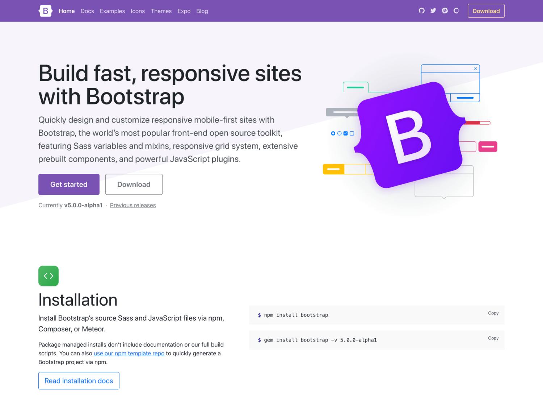Bootstrap 5 新版首頁