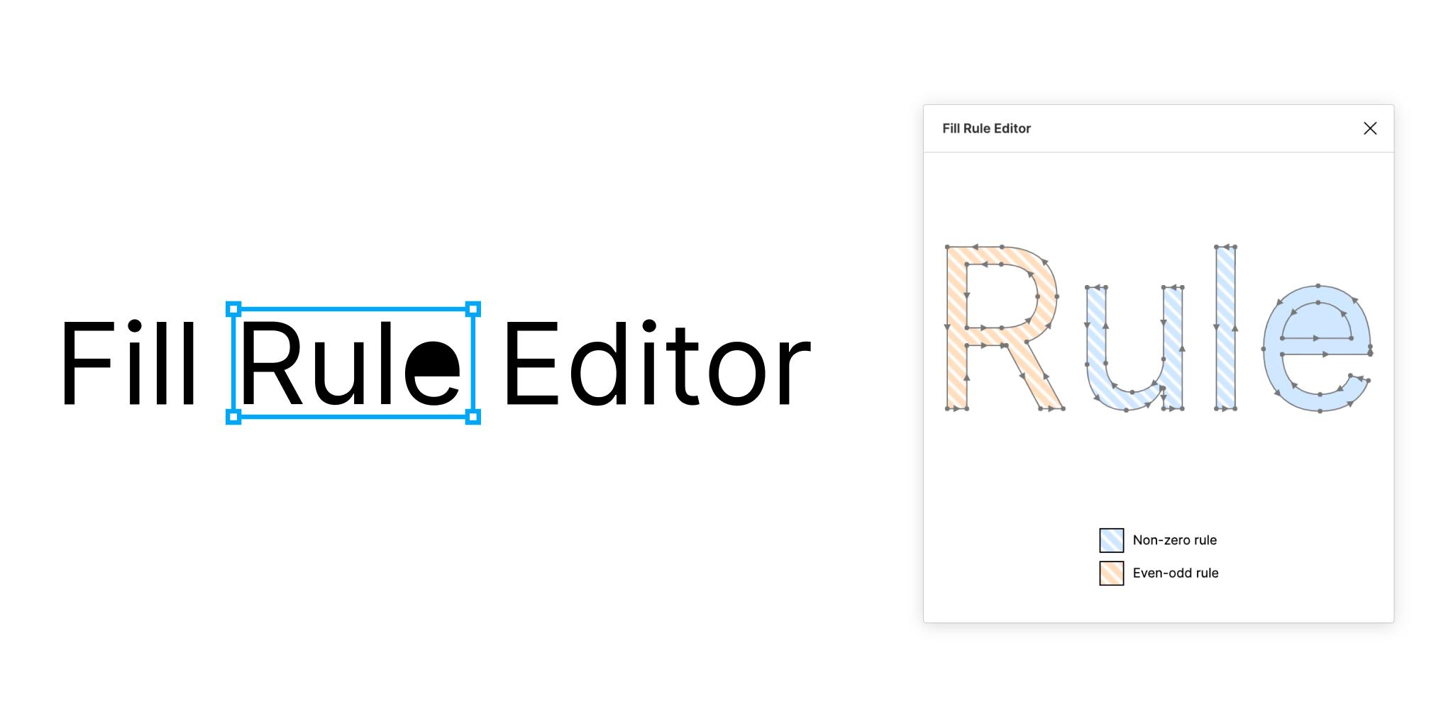 Figma Fill Rule Editor plugin