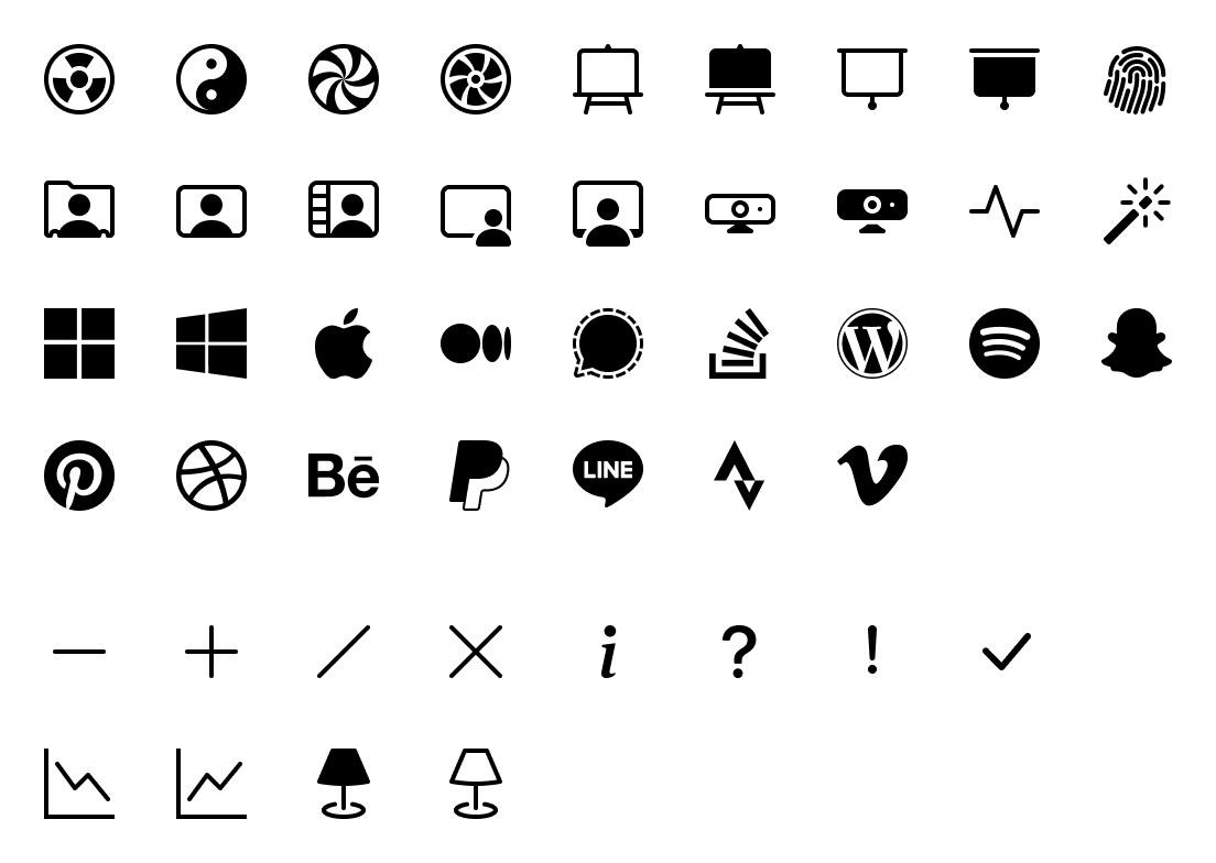 New icons in v1.6.0